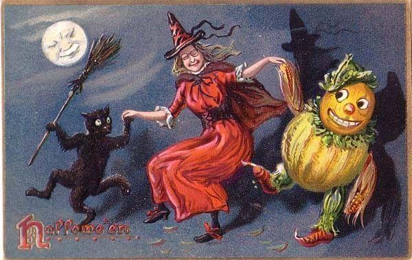 sorcière en fête pour Halloween